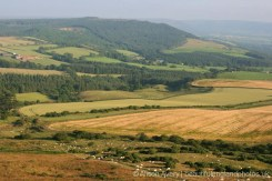 Looking towards Captain Cook Monument on Easby Moor, from Roseberry Topping, North York Moors
