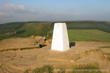 Trig point, summit, Roseberry Topping, North York Moors