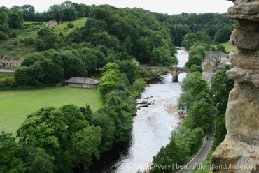 Green Bridge, over River Swale, from Richmond Castle, Richmond