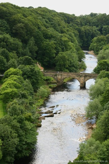 Green Bridge, over River Swale, from Richmond Castle, Richmond