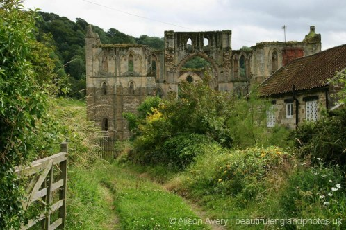 Rievaulx Abbey, from Rievaulx village
