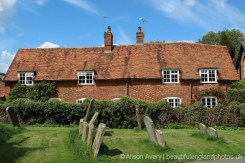 Cottages, Church Close, from St. Andrew's Churchyard, East Hagbourne