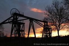 Sunset, Brinsley Colliery Headstocks, Eastwood