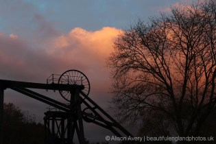 Sunset, Brinsley Colliery Headstocks, Eastwood