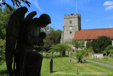 The Angel, subject of Stanley Spencer's painting, Holy Trinity Churchyard, Cookham