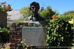 Bust of Leonard Woolf, Monk's House Garden, Rodmell