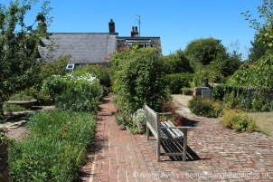 Monk's House Garden, home of Leonard and Virginia Woolf, Rodmell