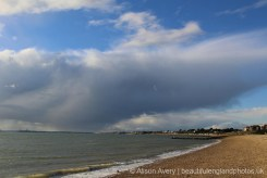 Rain clouds over The Solent, Lee-on-the-Solent