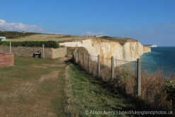 Access to Friars' Bay Cliff Steps leading to Undercliff Walk, from Cliff Avenue, Peacehaven