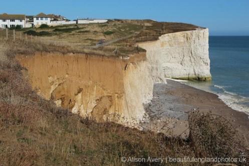Beach, from clifftop, Telscombe Cliffs
