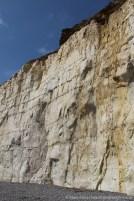 Chalk and flint cliffs, from West Beach, Newhaven