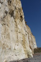Chalk and flint cliffs, from West Beach, Newhaven