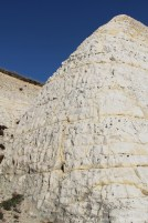 Chalk and flint cliffs on ramp, Bastion Steps, Peacehaven