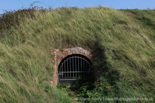 Entrance to Powder Magazine, Lunette Battery, Newhaven Fort, Newhaven