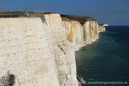 Friars' Bay to Seaford, from clifftop above end of Undercliff Walk, Peacehaven