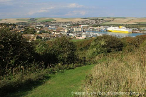 Port of Newhaven, from Castle Hill, Newhaven
