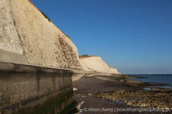 Sea wall, from beach, Telscombe Cliffs