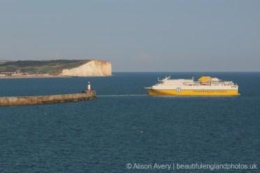 Transmanche Ferries, leaving Newhaven