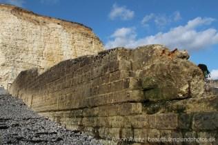 Wall on beach, Telscombe Cliffs