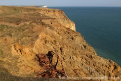 Wreck of car on cliffs, between Newhaven and Peacehaven