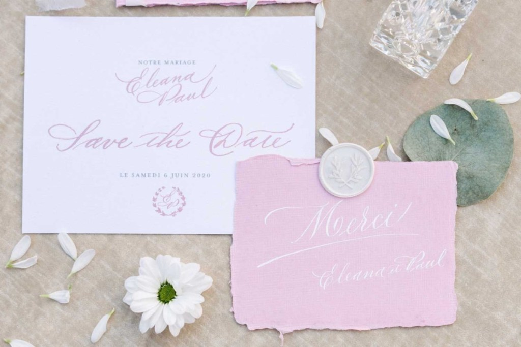 why you need save the date cards - wedding calligraphy studio in Italy - romantic and classic wedding invitation in shades of pink