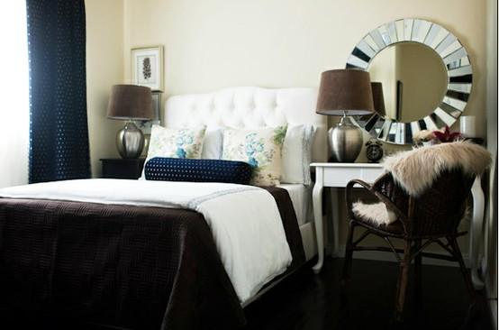 Double Duty Desk Nightstand Bedroom Design