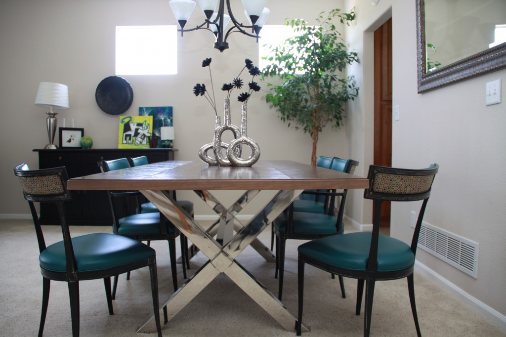 silver metal and wood dining chairs zero gravity recliner room project | repurposed table