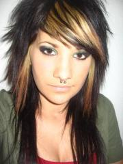 emo hairstyles beautiful