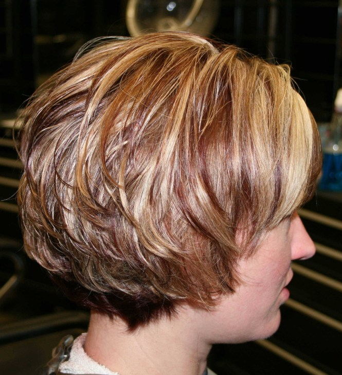 Cute Short Hairstyles For Women Layered Bob Cut With Side Swept Bangs