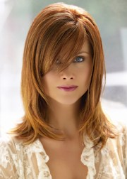 hairstyles with side bangs beautiful