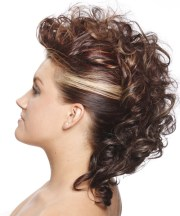 curly mohawk hairstyles beautiful
