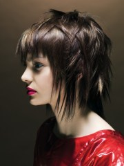 medium choppy hairstyles beautiful
