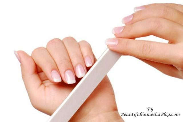 Use A Filer To Shape Your Nails Either Go For Square Or Round Slightly Curvy Looks Great With French Manicure Buff The Surface Of Nail