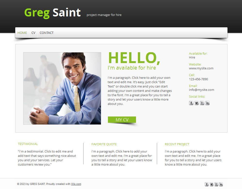 free resume website