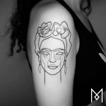 Minimalistic One Line Tattoos By Mo Gangi