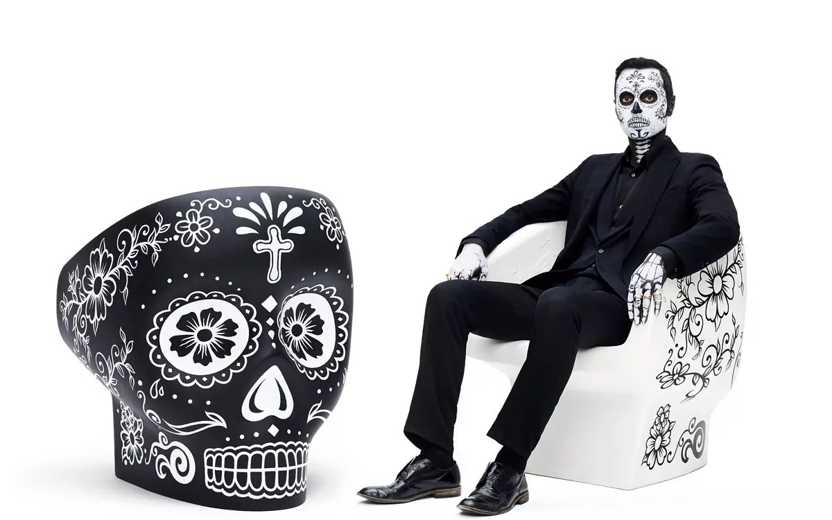 skull chair childrens office fabio novembre s updated for mexico day of the dead