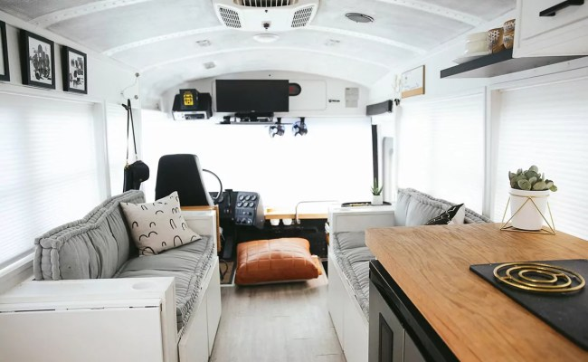 School Bus Tiny House By The Mayes Team