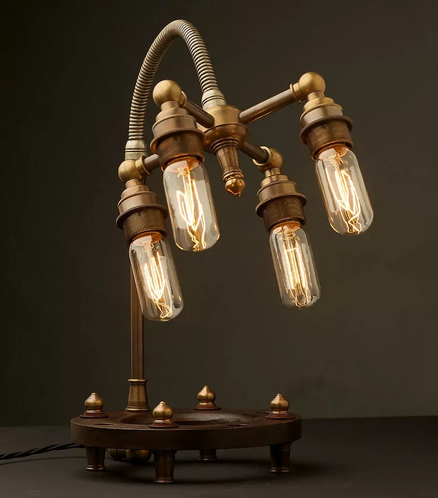 25 industrial table lamps in vintage style