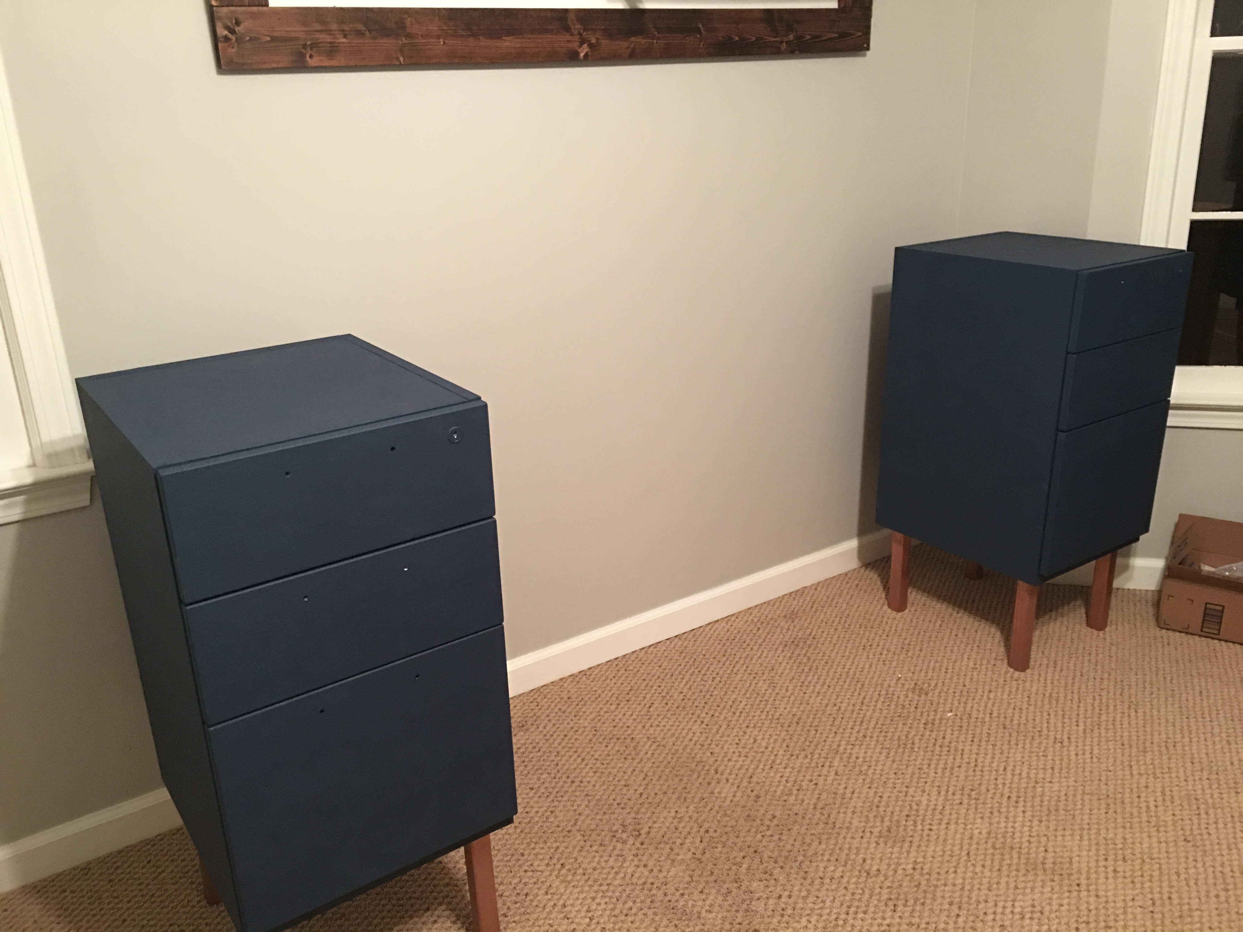 Now It Was Time To Put The File Cabinets Back Together And Move Them Into  My Office.