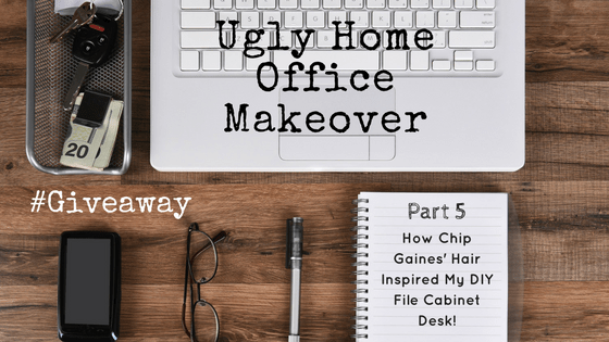 Ugly Home Office Makeover U2013 Part 5: The DIY File Cabinet Desk And How Chip  Gainesu0027 Hair Inspired Me