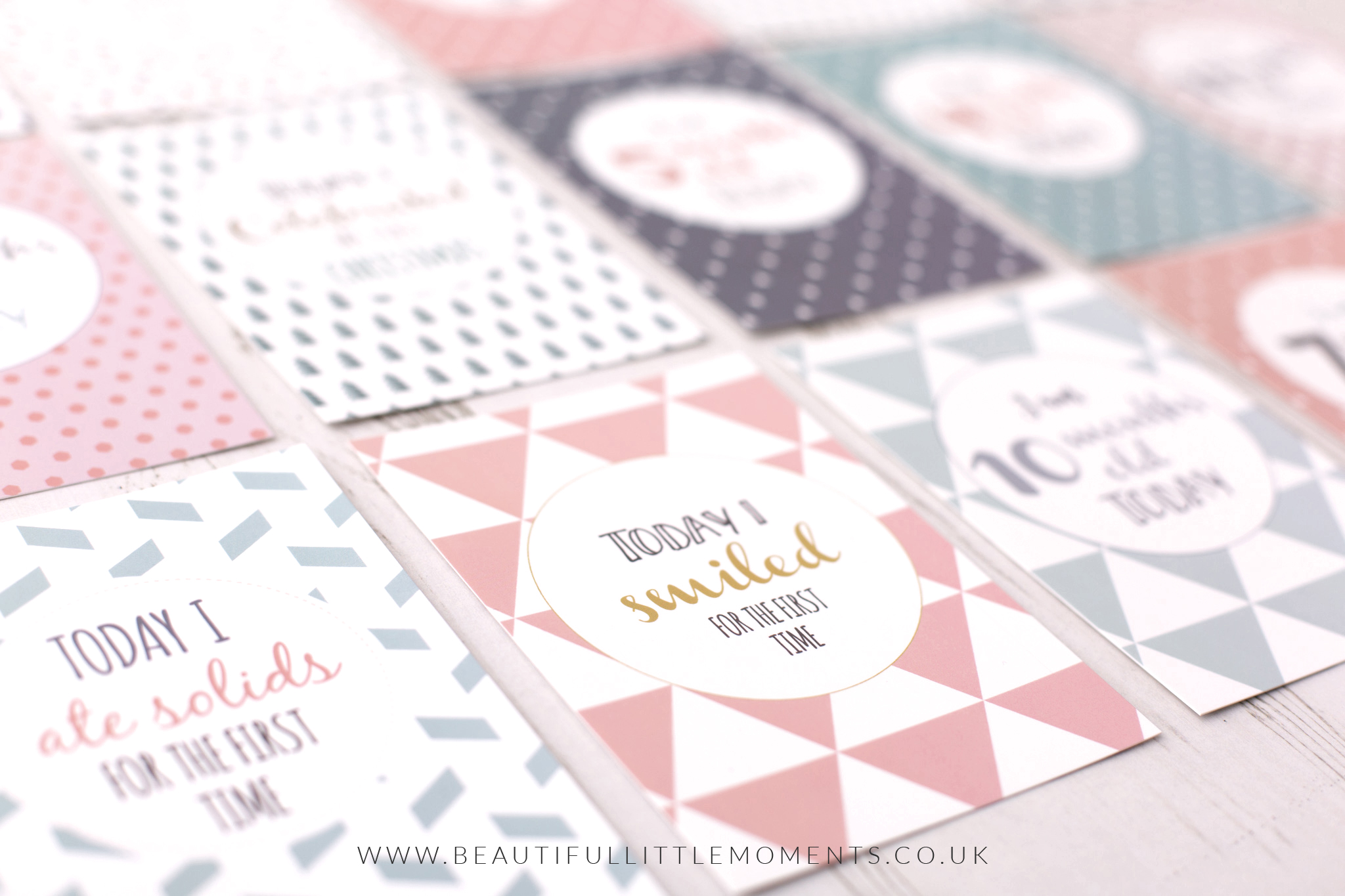 baby milestone cards writeable gender neutral