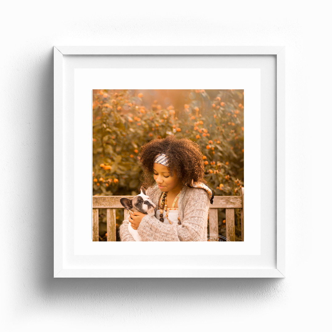 outdoor child photography framed print