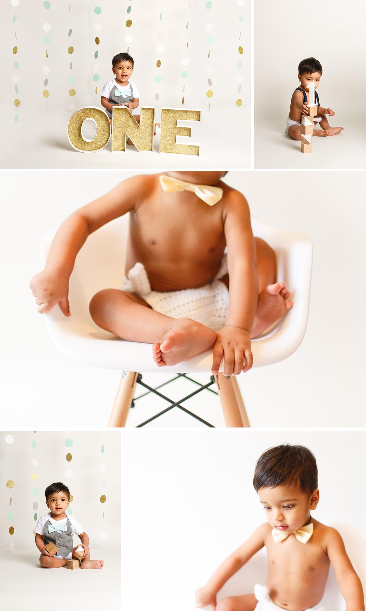 first birthday portraits boy photoshoot