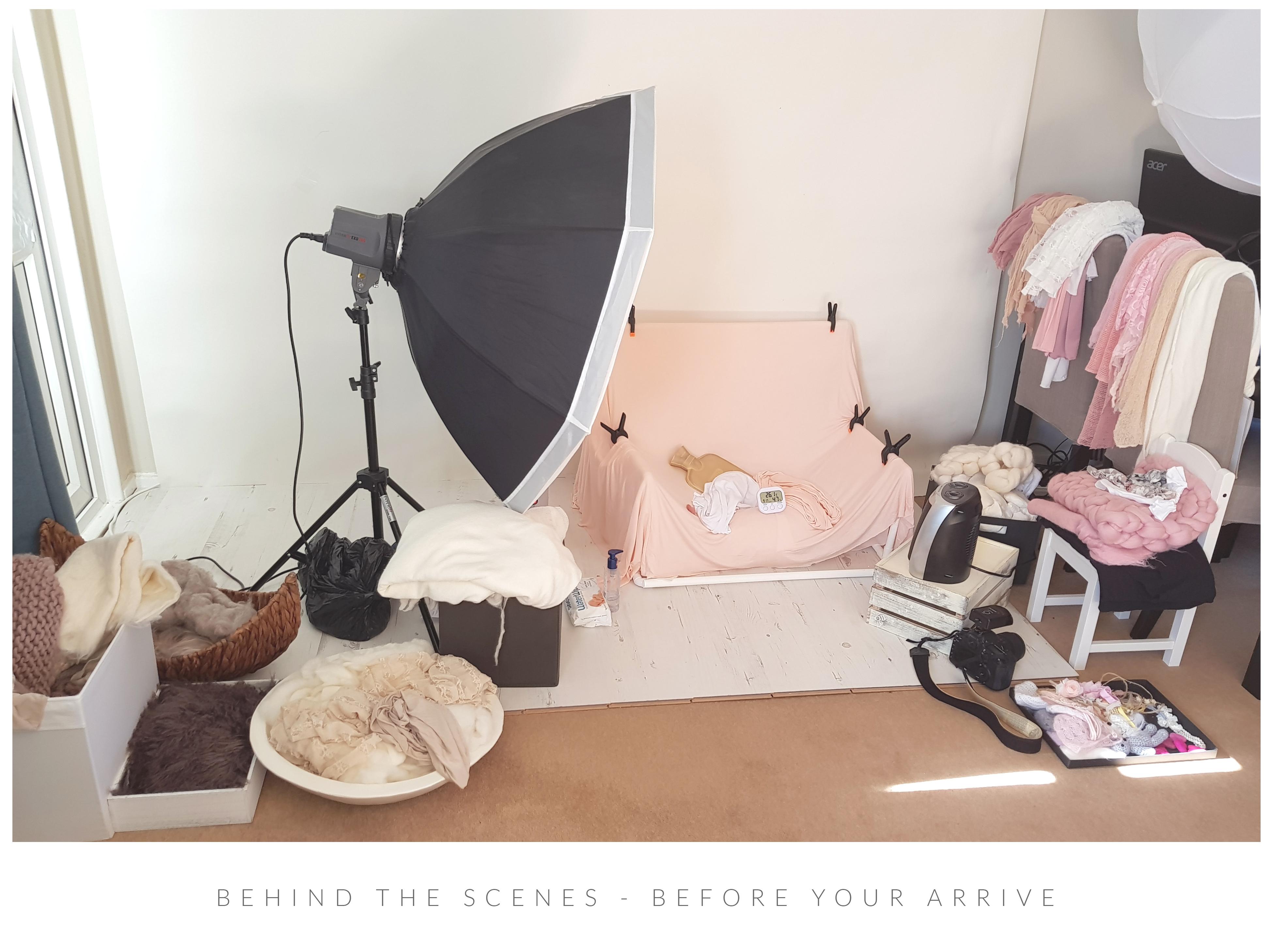 behind the scenes home studio