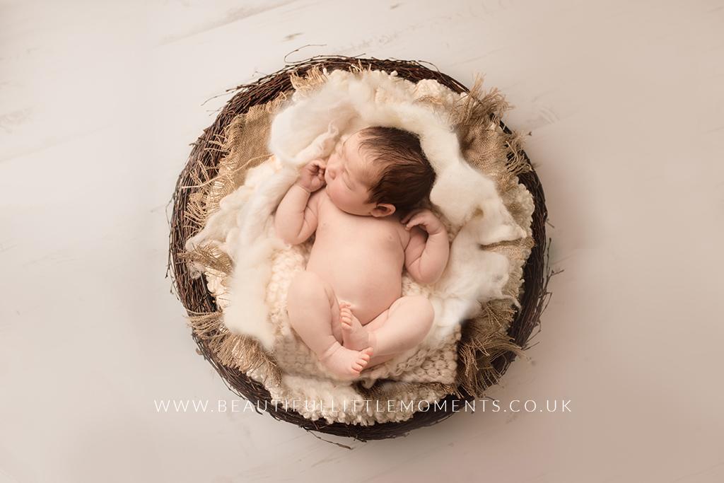 newborn-baby-girl-cream-nest-epsom-surrey
