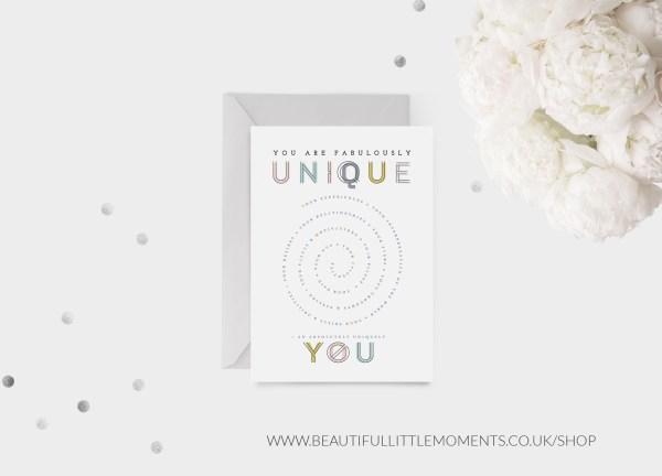 uniquely you card