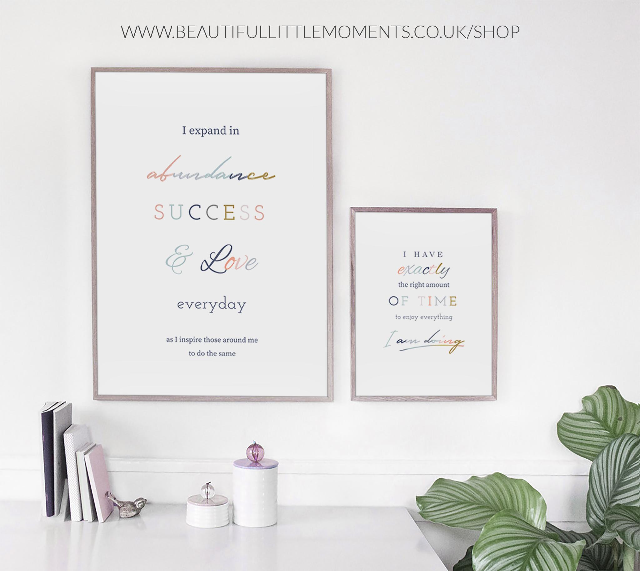 abundance, success & love print