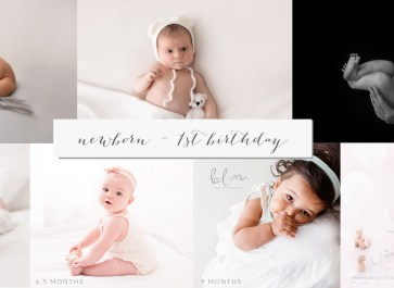 newborn to first birthday baby photos by age