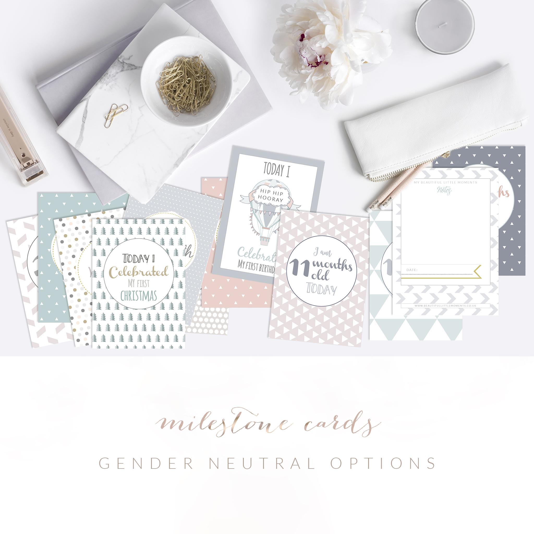 gender neutral milestone cards | £20