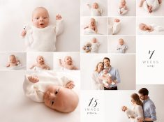 7 week old baby photo shoot Epsom Surrey